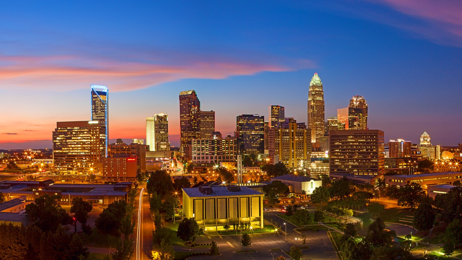 Things to do in Charlotte NC - Uptown Skyline