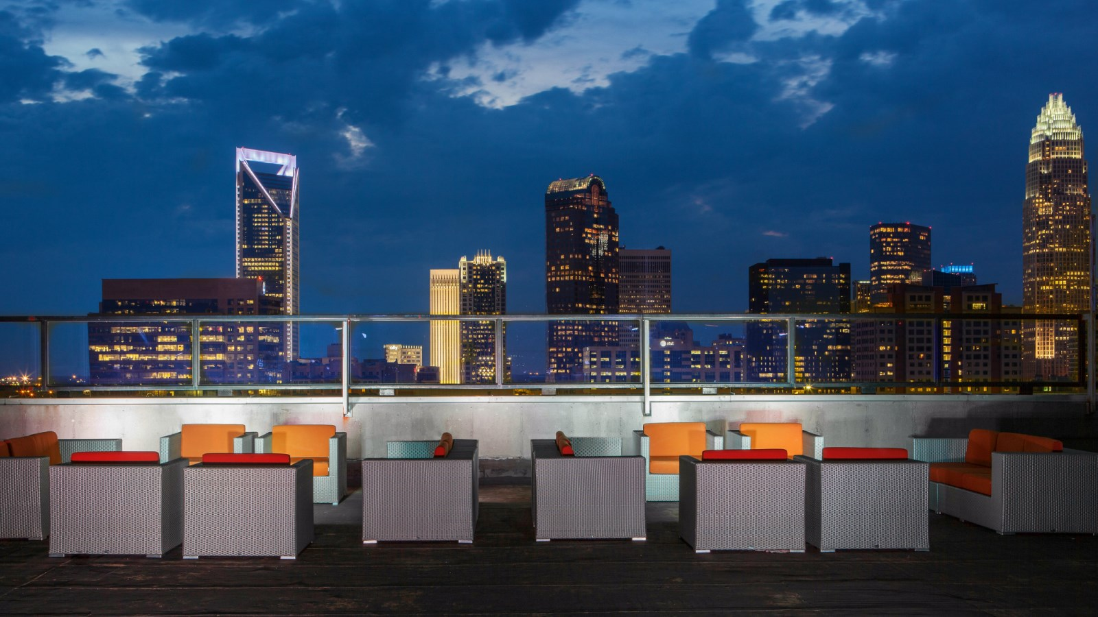 Charlotte Events - Sheraton Charlotte Hotel - City Lights Rooftop at Night